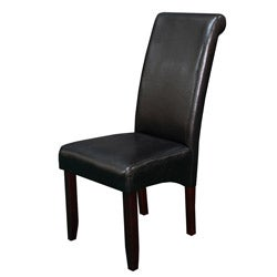 Milan Faux Leather Black Dining Chairs (Set of 2)