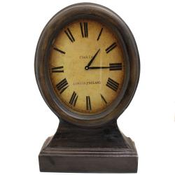 Just On Time London England Large Wood Table Clock