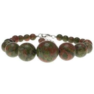 Pearlz Ocean Sterling Silver Unakite Bead Journey Bracelet
