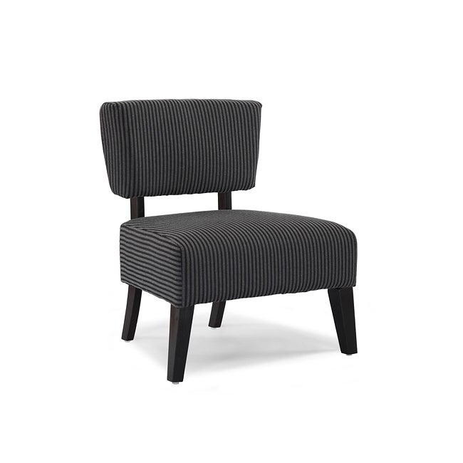 Delano Grey Stripe Accent Chair