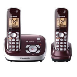 Panasonic KX-TG6572R DECT 6.0 Cordless Digital Answering System with 2 Handsets (Refurbished)