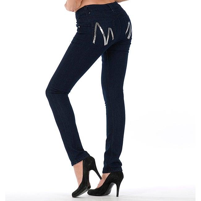 MDZ Women's 'Mona' Dark Wash Skinny Jeans