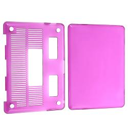 INSTEN Clear Purple Snap-on Laptop Case Cover for Apple MacBook Pro 13-inch