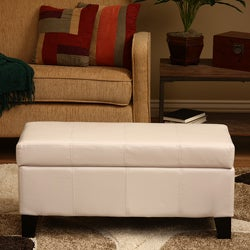 Ariel White Storage Bench