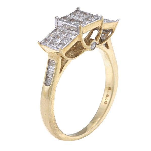10k Yellow Gold 1ct TDW Diamond Ring (H-I, I2-I3)