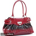 La Vani Shiny Snakeskin-pattern Faux Leather Fashion Shoulder Bag
