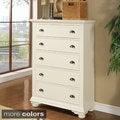 Napa 5-drawer White Chest