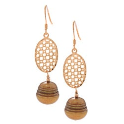 Kabella Sterling Sliver Chocolate FW Pearl Wire Blall Earrings (7-8 mm)