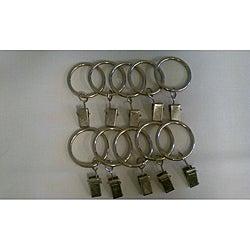 Children's Drapery Pole Silver Clip Rings (Set of 10)