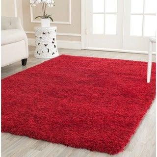 Safavieh Cozy Solid Red Shag Rug (8'6 x 12')