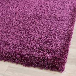 Safavieh Cozy Solid Purple Shag Rug (3' x 5')