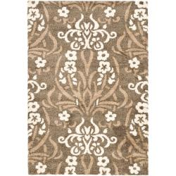 Safavieh Ultimate Smoke/ Beige Shag Rug (8'6 x 12')
