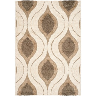Safavieh Ultimate Cream/ Smoke Shag Rug (8'6 x 12')
