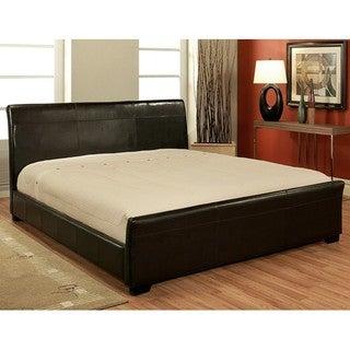 Abbyson Living Monaco Dark Brown Bi-cast Leather King-size Bed