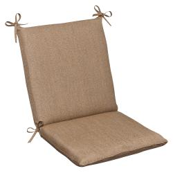 Pillow Perfect Outdoor Tan Textured Chair Cushion with Sunbrella Fabric
