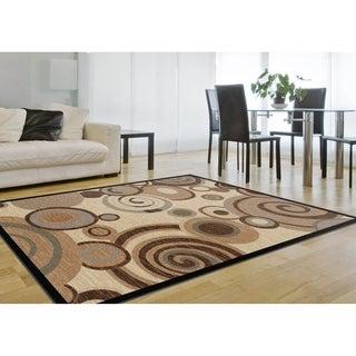 Alise Flora Ivory/ Multi Swirl Rug (7'10 x 10'3)