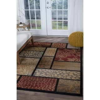 Infinity Collection Brown Area Rug (7'10 x 10'3)