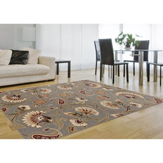Infinity Collection Blue Area Rug (7'10 x 10'3)
