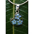 Sterling Silver Forget-Me-Not Small Heart Necklace (Mexico)