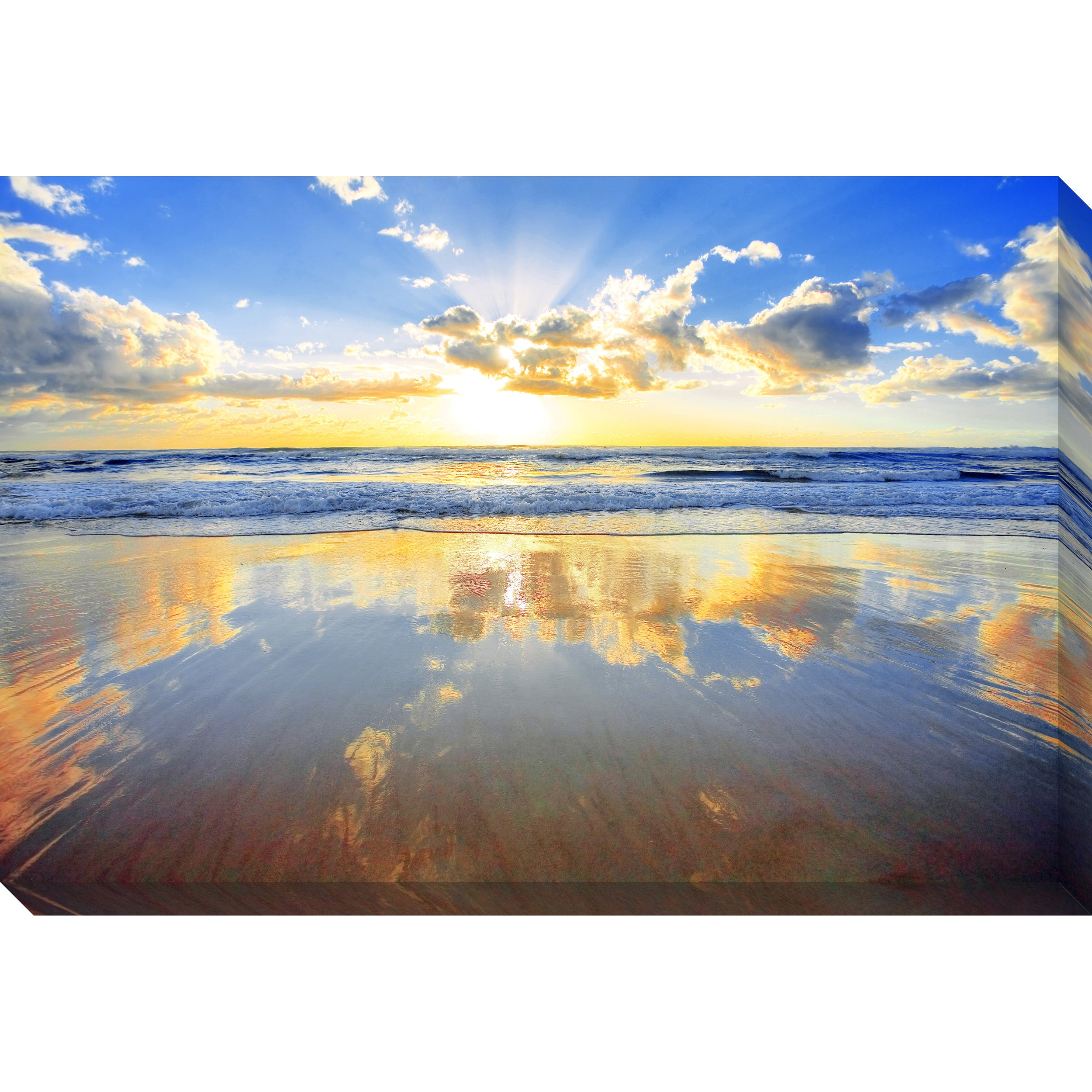 Golden Beach Oversized Gallery Wrapped Canvas