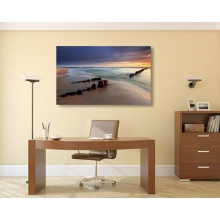 Beach Sunrise Oversized Gallery Wrapped Canvas