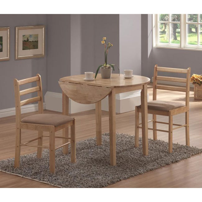 Overstock Dining Set: Natural 3-piece Dinette Set