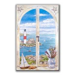 Montauk Lighthouse Window Scene