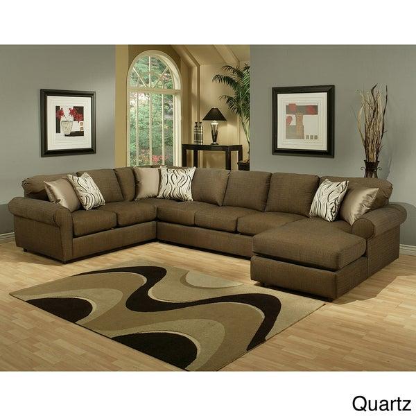 Furniture of America Keaton Chenille Sectional Sofa