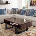 Fayth Dark Walnut/ Black Coffee Table