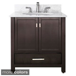Avanity Modero 36-inch Single Vanity in Espresso Finish with Sink and Top