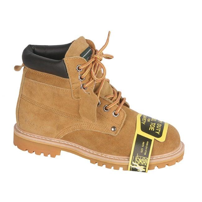 Rockman Men's Tan Suede Lace-up Oxford Steel Toe Boots