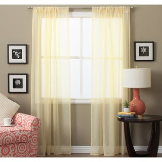 Lucerne 84-inch Sheer Curtain Pair Panel