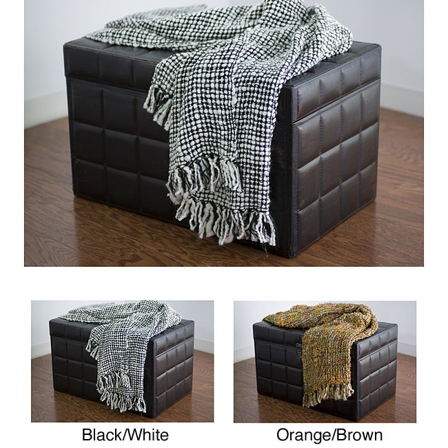 Rizzy Home Thick Weave Acrylic Throw