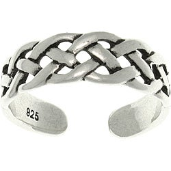 CGC Open Celtic Weave Sterling Silver Adjustable Toe Ring