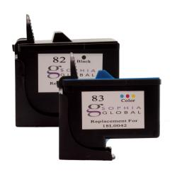 Lexmark 82/83 Ink Cartridges Combo (Remanufactured) (Pack of 2)