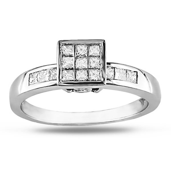 10k White Gold 1/2ct TDW White Diamond Ring (H-I, I1-I2)