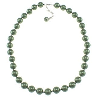 Pearlz Ocean Green Shell Pearl Necklace