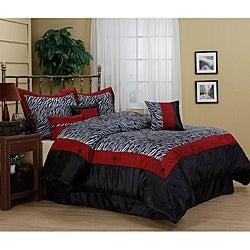 Sahara Zebra Print 7-piece Comforter Set