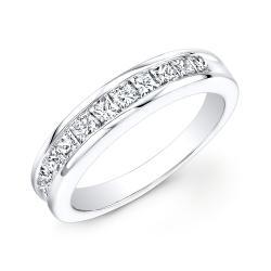 14k White Gold 3/4ct TDW Channel-set Princess Diamond Eternity Band