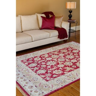 Hand-knotted Timeless New Zealand Hard Twist Wool Rug (5'6 x 8'6)