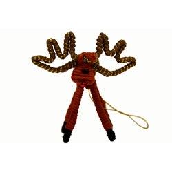 Yarn Brown Reindeer Ornament (Colombia)