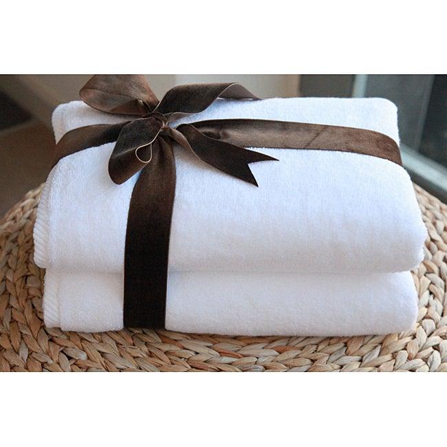 Authentic Hotel and Spa Plush Soft Twist Turkish Cotton Bath Towel (Set of 2)
