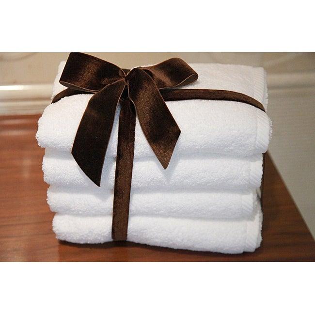 Authentic Hotel & Spa Plush Soft-twist Turkish Cotton Hand Towel (Set of 4)