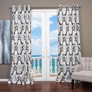 Arabella Flocked Curtain Panel