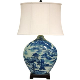 Fallow Blossom Porcelain Vase Lamp (China)
