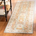 Handmade Kerman Navy Gold Wool Rug (2'3 x 12')
