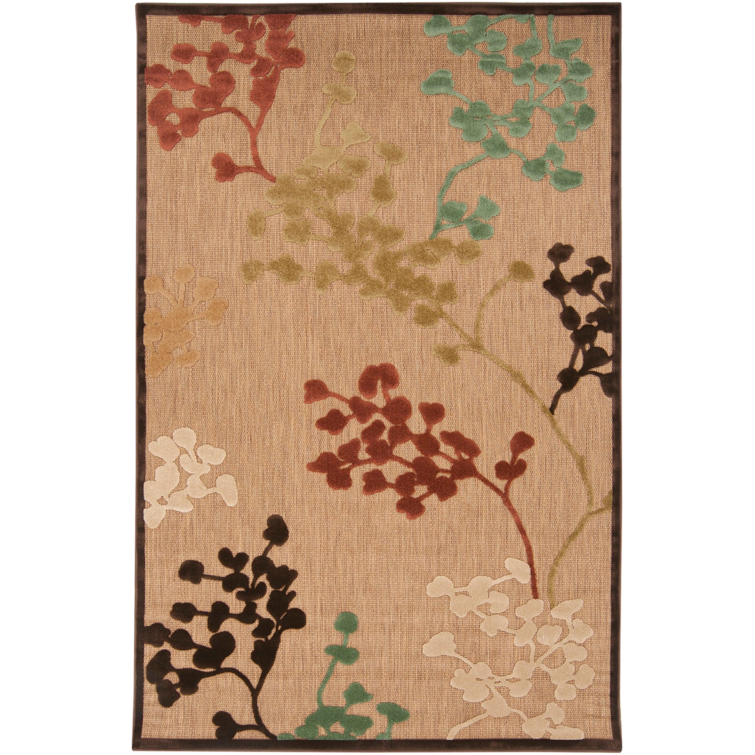 Hatfield Indoor/Outdoor Floral Rug (7'10 x 10')