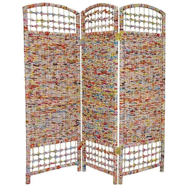 Recycled Magazine 4-foot Tall Room Divider (China)