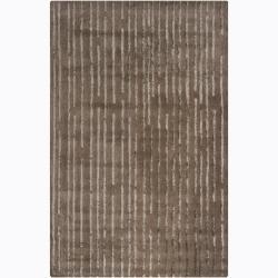 Hand-Tufted Mandara Brown Geometric Rug (8' x 10')