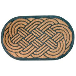 Lover's Knot Recycled Rubber & Coir Doormat